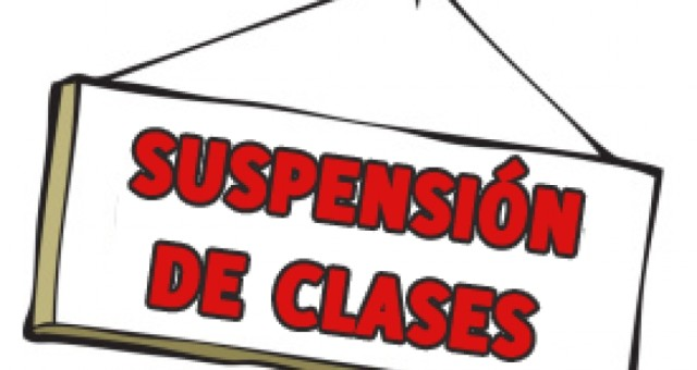 Suspensión de clases por lluvias